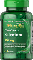 Selenium 200 mcg <p>Selenium is an essential trace mineral that supports the immune system.** </p><p>Adults can take one tablet daily with a meal.</p><p>Mineral Products</p><p></p> 250 Tablets 200 mcg $18.49