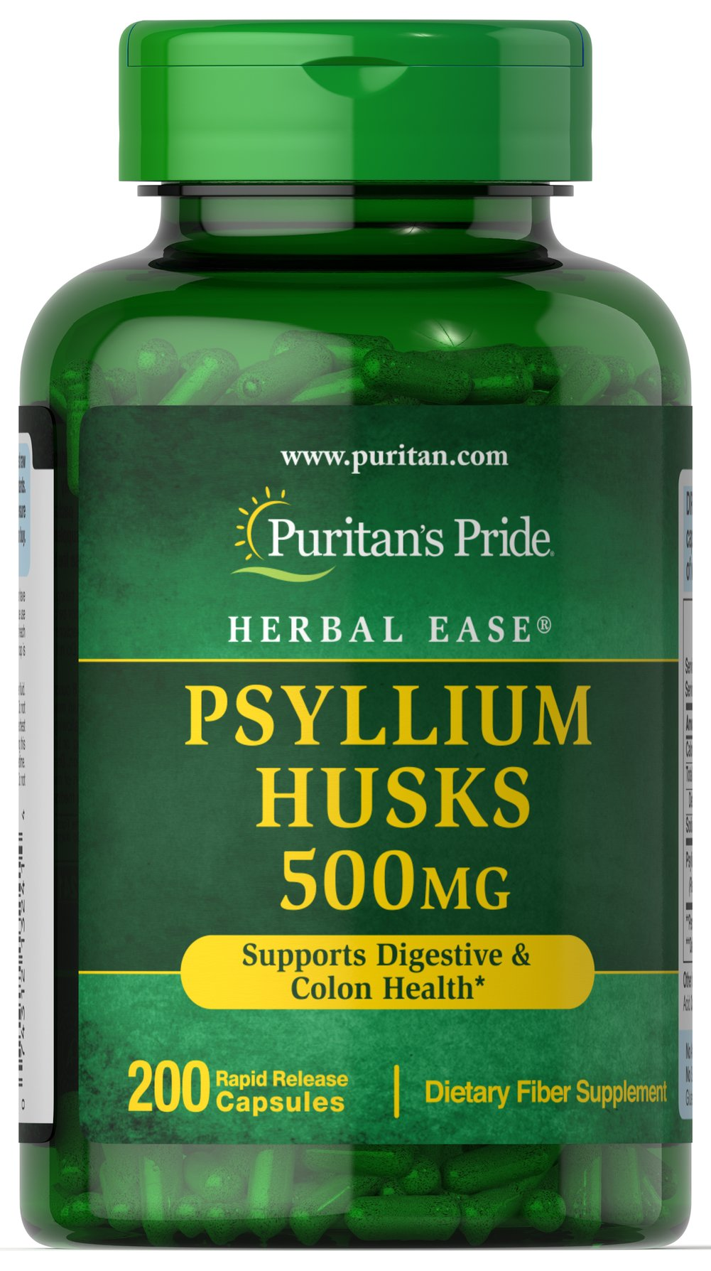 Psyllium Husks 500 mg <p>Psyllium Husks are a source of soluble fiber and a healthy addition to your diet. Our high-quality formula provides 1,000 mg of Psyllium seed husk per serving to support digestive and colon health.**</p>  200 Capsules 500 mg $13.99