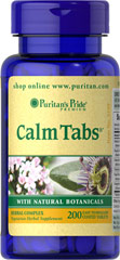 Calm Tabs® <p>Try Calm Tabs® for a relaxing way to wind down from a hectic day. With the stresses of everyday life, it is nice to come home to a relaxing, tranquil evening. Calm Tabs® is a unique blend of more than five herbal ingredients, including Valerian and Hops, that can complement a restful night, especially after a long, tension-filled day.** Use before bedtime or when you want an herbal supplement during relaxation.**</p> 200 Coated Tablets  $14.99