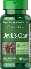 Devil's Claw 510 mg <p>TRADITIONALLY USED FOR JOINT HEALTH**</p><p>Devil's Claw has been used as an herbal tea ingredient in Europe, a folk remedy in Africa, and recently has entered the health food marketplace in the United States.  Available in (510 mg.) Whole Herb Capsules.</p><p>Devil's Claw contains harpagoside, a glycoside which helps contribute to the herb's ability to support joint health.**</p> 100 Capsules 510 mg $11.29