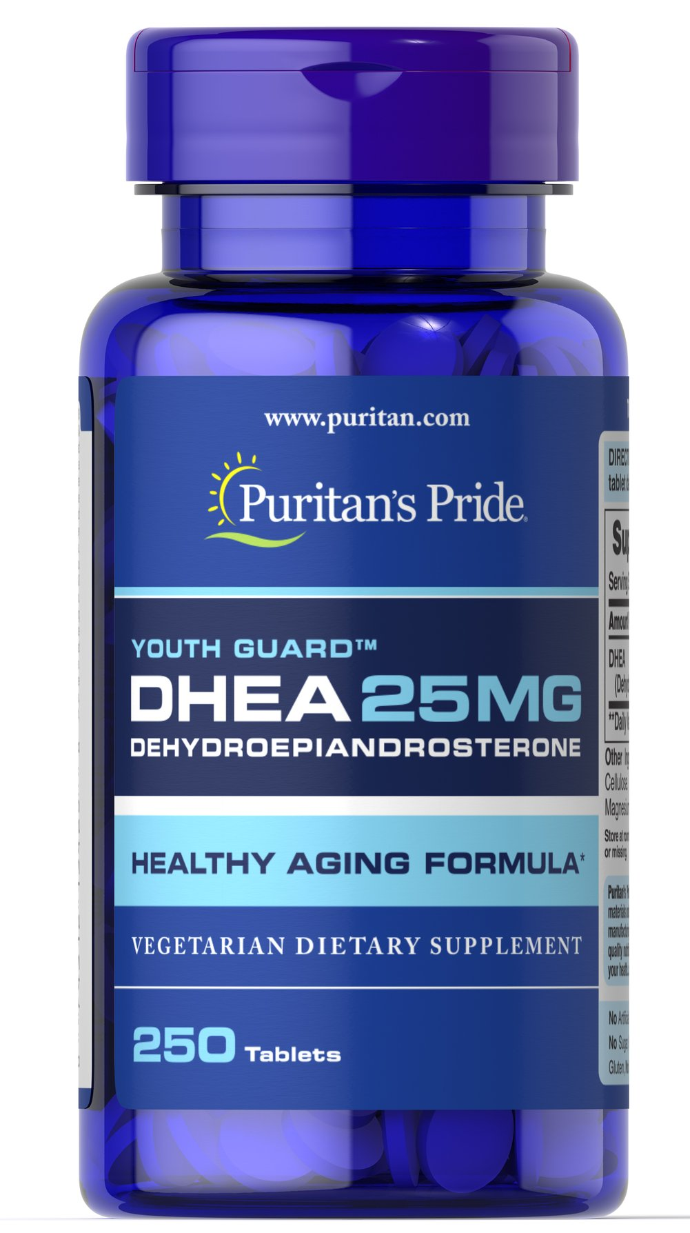 DHEA 25 mg <p>DHEA (Dehydroepiandrosterone) is made by the adrenal glands, which are located just above the kidneys and liver.  Levels of DHEA can decline with age.  Adults can take one tablet daily with a meal.</p> 250 Tablets 25 mg $21.99