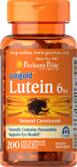 Lutein 6 mg with Zeaxanthin  200 Softgels 6 mg $15.99