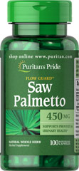 Saw Palmetto 450 mg Saw Palmetto is an extract derived from the berry of the Saw Palmetto tree and is the leading herb for men's health.** Our high-quality softgels deliver 450 mg of Saw Palmetto, an herb that has been traditionally used to support prostate and urinary health in men, especially in later years.** Our extract provides a natural whole herb in a convenient to take softgel capsule. 100 Capsules 450 mg $9.99