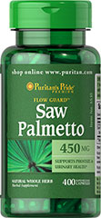 Saw Palmetto 450 mg Saw Palmetto is an extract derived from the berry of the Saw Palmetto tree and is the leading herb for men's health.** Our high-quality softgels deliver 450 mg of Saw Palmetto, an herb that has been traditionally used to support prostate and urinary health in men, especially in later years.** Our extract provides a natural whole herb in a convenient to take softgel capsule. <br /><br /> 400 Capsules 450 mg $26.99