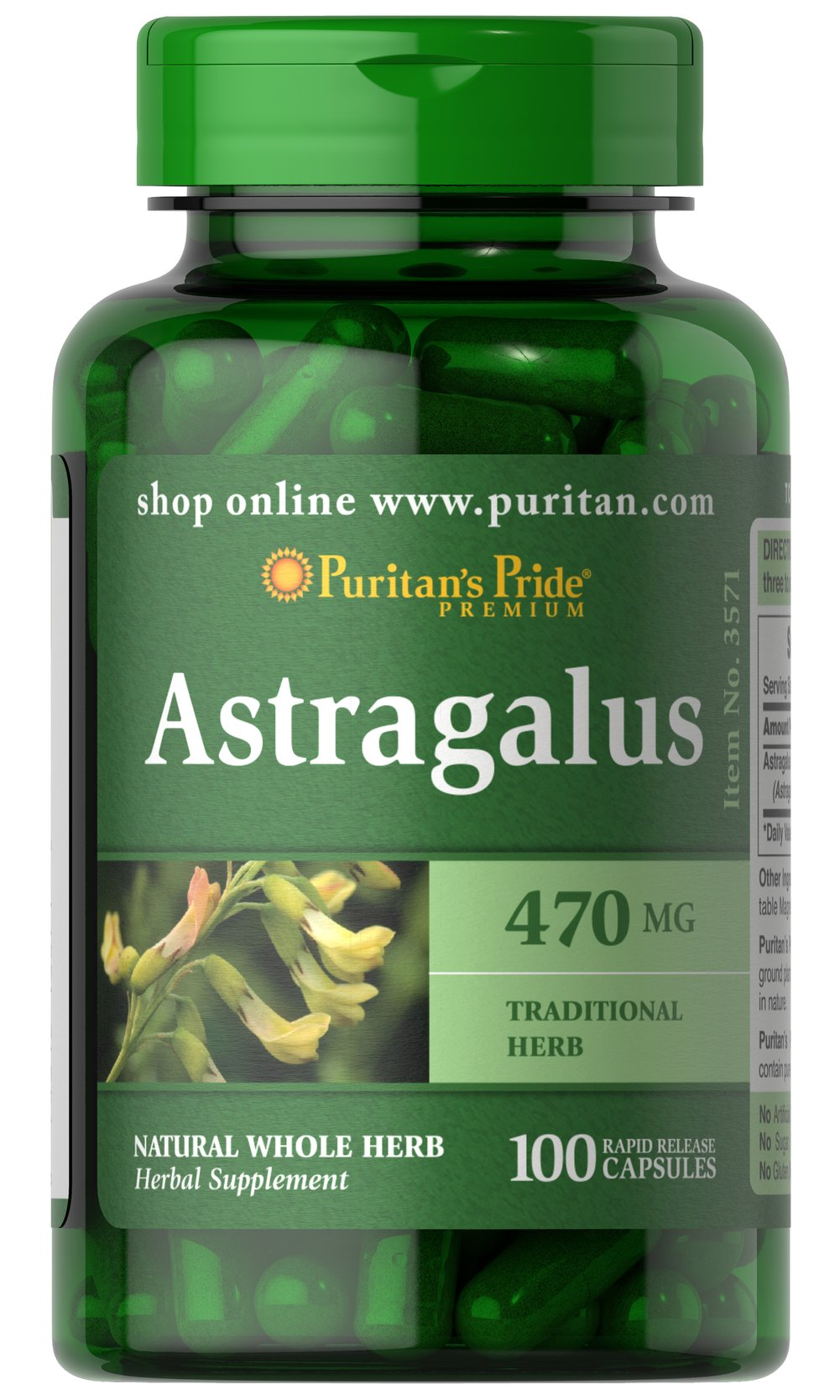 Astragalus 470 mg <p>Traditional Chinese Herb </p><p>Astragalus contains naturally occurring flavonoids and polysaccharides. As a traditional Chinese herb, Astragalus is known for its goodness.</p> 100 Capsules 470 mg $10.29