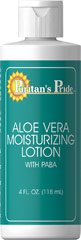 Aloe Vera Moisturizing Lotion with Paba <p>Topical formulas go on clean, and leave no greasy residue</p><p>Hydrates your skin, enhancing a beautiful complexion</p><p>Softly moisturizes and protects</p><p>Rejuvenates your skin, leaving it fresh and supple</p><p>Enjoy the silky softness of your Aloe-enriched skin</p><p>Now you can exude youthful radiance and let your skin live up to its fullest, healthiest potential with our Aloe Ve