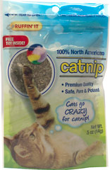 100% North American Catnip with Free Toy  0.5 oz Bag  $4.69