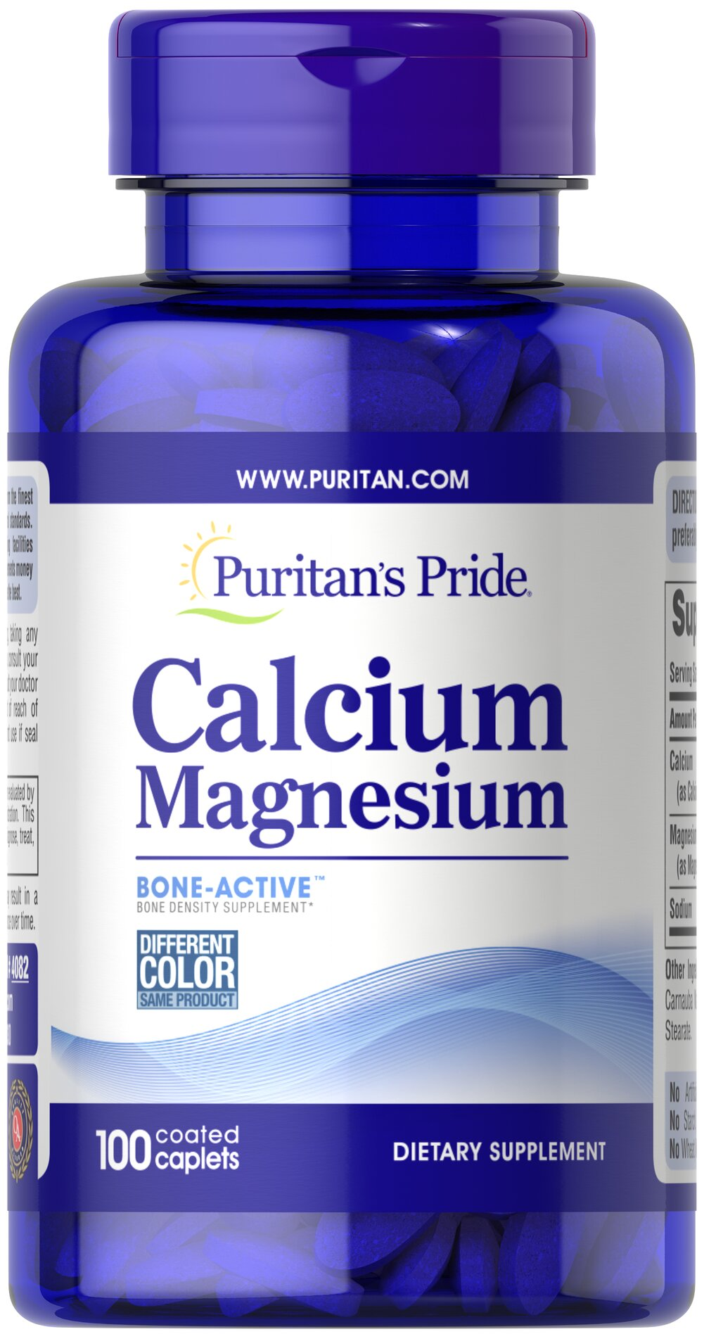 Calcium Magnesium Chelated <p>Looking for extra support for your bones?</p><p>Puritan's Pride offers a high quality Calcium and Magnesium supplement that delivers 500 mg Calcium and 250 mg Magnesium in a chelated form for optimal absorption.</p> 100 Caplets 500 mg/250 mg $9.99