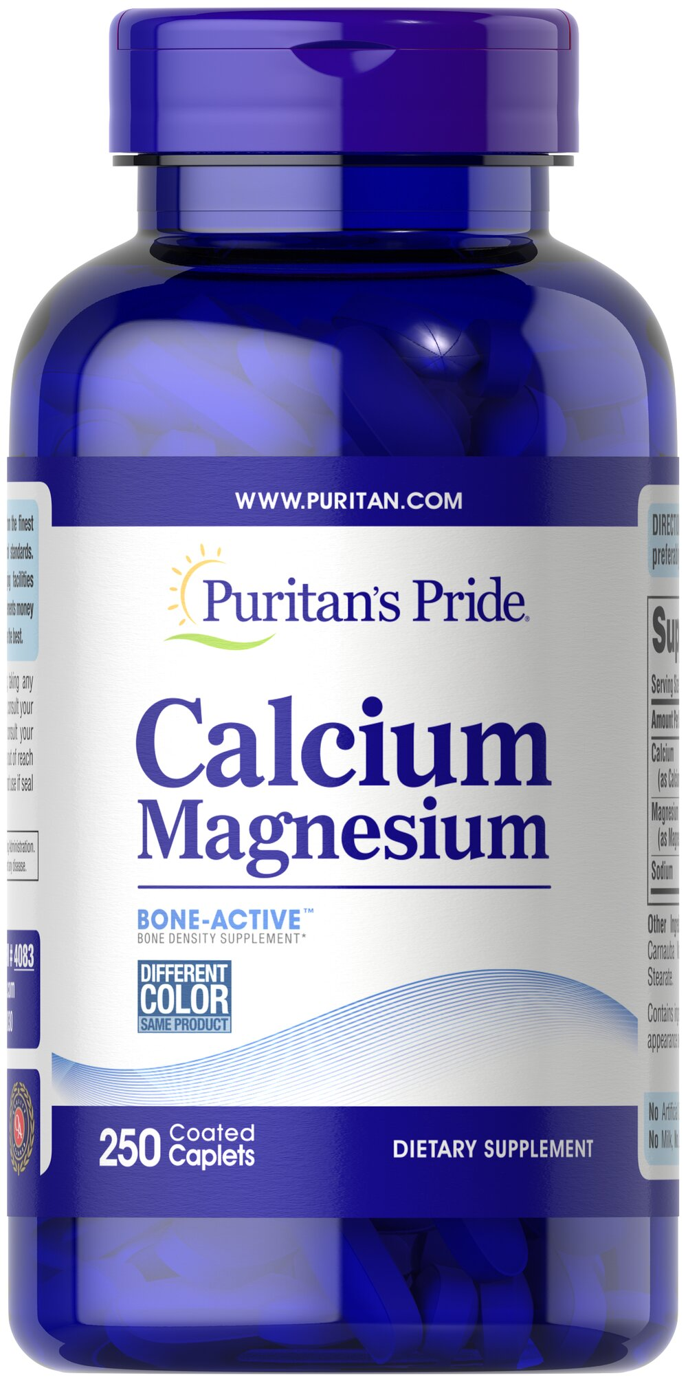 Calcium Magnesium Chelated <p>Looking for extra support for your bones?</p><p>Puritan's Pride offers a high quality Calcium and Magnesium supplement that delivers 500 mg Calcium and 250 mg Magnesium in a chelated form for optimal absorption.</p> 250 Caplets 500 mg/250 mg $17.99