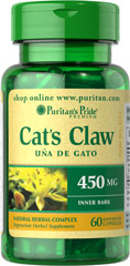 Cat's Claw Complex 450 mg <p>Cat's Claw (Uncaria tomentosa) is a natural whole herb. </p><p>Supports Immune System Health**</p> <p>Supports Joint Health**</p>  60 Capsules 450 mg $12.99