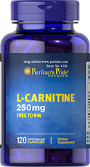 L-Carnitine 250 mg <p>Carnitine is a nitrogen-containing compound that assists in fat metabolism.** Carnitine plays an essential role in making fatty acids available for muscle tissue.</p> 120 Capsules 250 mg $23.99