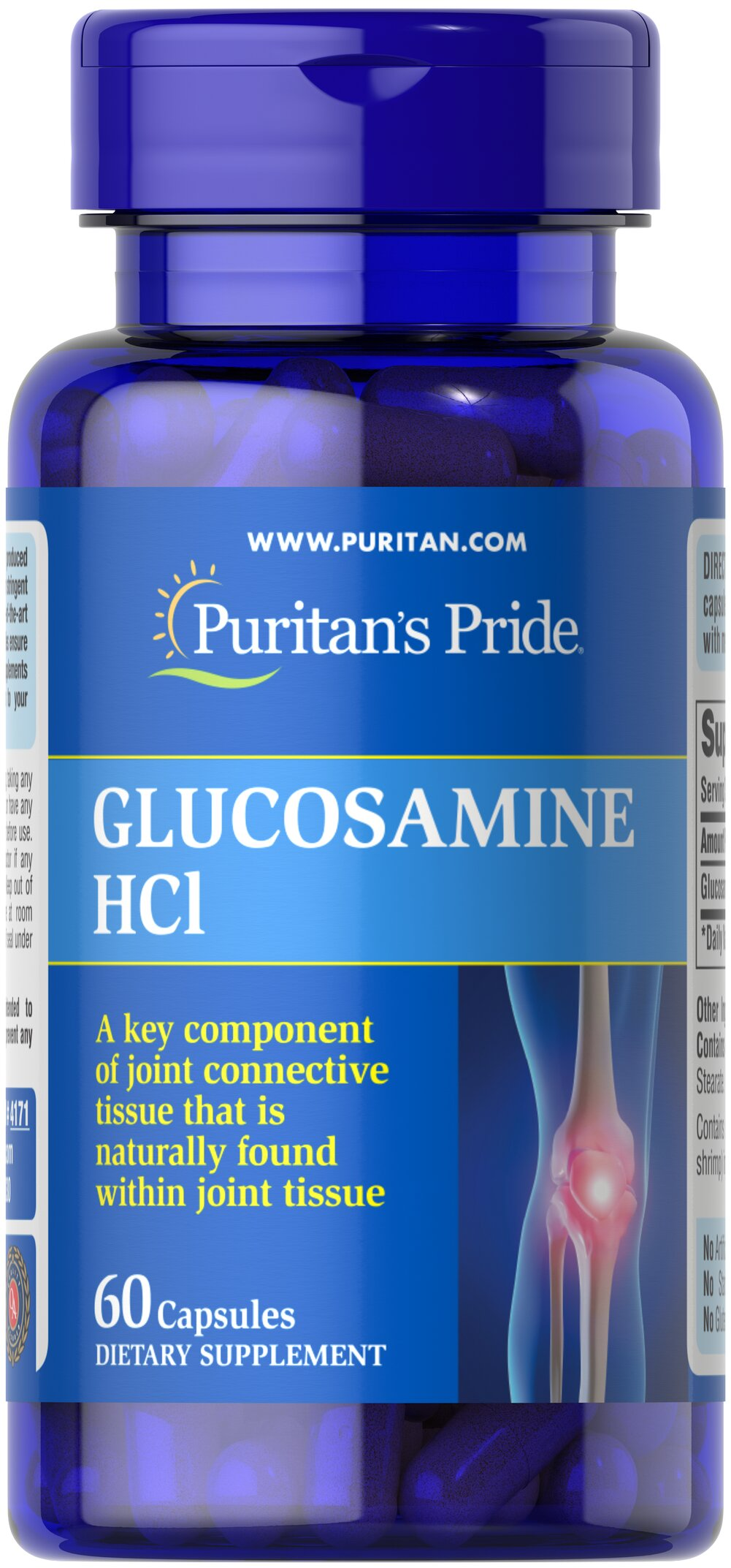 Glucosamine Sulfate 1000 mg <p>Promotes Healthy Joints**</p>  <p>Supports Cartilage Maintenance**</p>  <p>As a key ingredient in cartilage, Glucosamine plays an important role in good joint health and helps promote healthy joints and cartilage maintenance.** Studies indicate that Glucosamine provides the building blocks for constructing cartilage.** Our Glucosamine Sulfate capsules are perfect for anyone desiring extra nutritional support for cartilage and joints.**