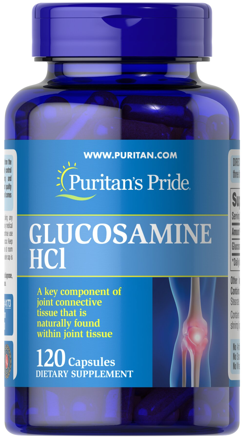 Glucosamine Sulfate 1000 mg <p>Promotes Healthy Joints**</p><p>Supports Cartilage Maintenance**</p><p>As a key ingredient in cartilage, Glucosamine plays an important role in good joint health and helps promote healthy joints and cartilage maintenance.** Studies indicate that Glucosamine provides the building blocks for constructing cartilage.** Our Glucosamine Sulfate capsules are perfect for anyone desiring extra nutritional support for cartilage and joints.**<