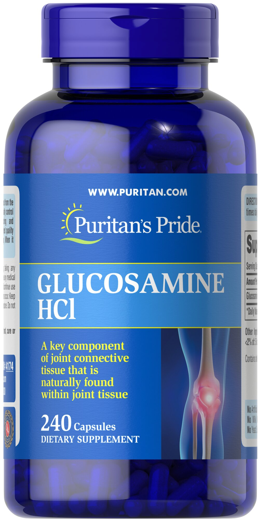Glucosamine Sulfate 1000 mg <p>Promotes Healthy Joints**</p><p>Supports Cartilage Maintenance**</p><p>As a key ingredient in cartilage, Glucosamine plays an important role in good joint health and helps promote healthy joints and cartilage maintenance.** Studies indicate that Glucosamine provides the building blocks of cartilage.** Our Glucosamine Sulfate capsules are perfect for anyone desiring extra nutritional support for cartilage and joints.**</p><p&gt