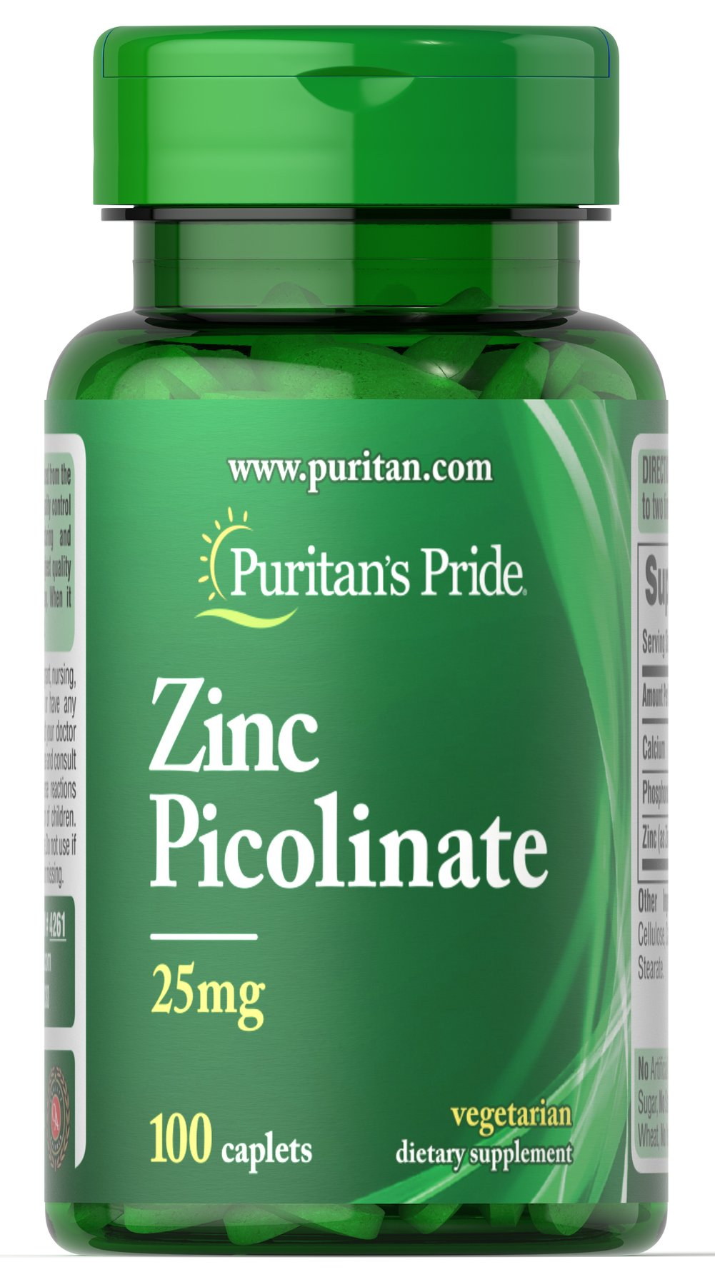 Zinc Picolinate 25 mg  100 Caplets 25 mg $10.99