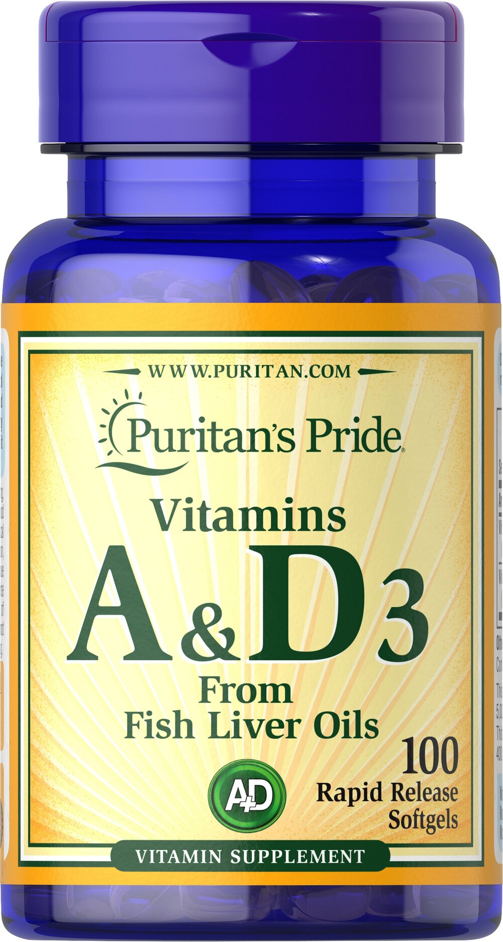 Vitamins A & D 5000/400 IU  100 Softgels 5000 IU/400 IU $5.99