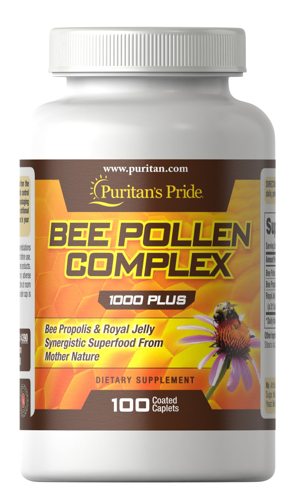 Bee Pollen Complex <p>All 3 Bee Nutrients in One Convenient Tablet!</p><p>Bee Pollen: 1000 mg.</p><p>Bee Propolis: 10 mg.</p><p>Royal Jelly: 10 mg</p> 100 Caplets 1000 mg $15.49