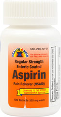 Aspirin Enteric Coated 325 mg <p>Temporarily relieves minor aches, headache, pains of arthritis and rheumatism, reduces fever associated with cold.</p><p>Active ingredient: Aspirin 325 mg (pain reliever/fever reducer).</p><p>Compare to the active ingredient in Ecotrin®.*</p><p>*Advance Pharmaceutical Inc., is not affiliated with the owner of the trademark Ecotrin®.</p> 100 Tablets 325 mg $5.99
