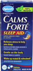 Calms Forté <p><b>From the Manufacturer's Label: </p></b><p>Sleep Aid**</p><p>Non Habit Forming**</p><p>Color Free Formula.**</p><p>Manufactured by HYLANDS.</p> 100 Tablets  $6.99