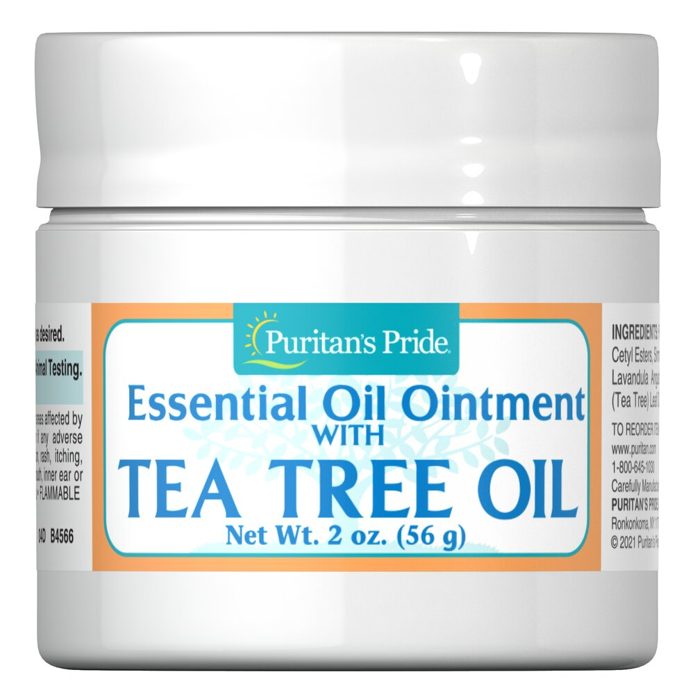 Tea Tree Oil Ointment <p>Tea Tree Oil Ointment is a blend of moisturizing essential oils and tea tree oil - which has been traditionally used as a topical agent for the skin.</p> 2 oz Ointment  $11.99
