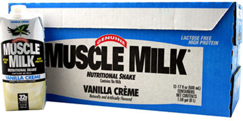 Muscle Milk RTD Nutritional Shake Vanilla Crème <p><strong></strong></p><p><strong>From Manufacturer:</strong></p><p>Muscle Milk Ready-to-Drink (RTD) is a protein-enhanced  functional beverage that promotes recovery from exercise, lean muscle growth, and sustained energy. Lactose and gluten free, Muscle Milk takes the guesswork  out of high performance nutrition by providing a blend of high-quality  proteins, c