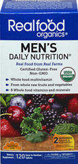 Realfood Organics® Men's Daily Nutrition Whole Food Multivitamin  120 Tablets  $34.99