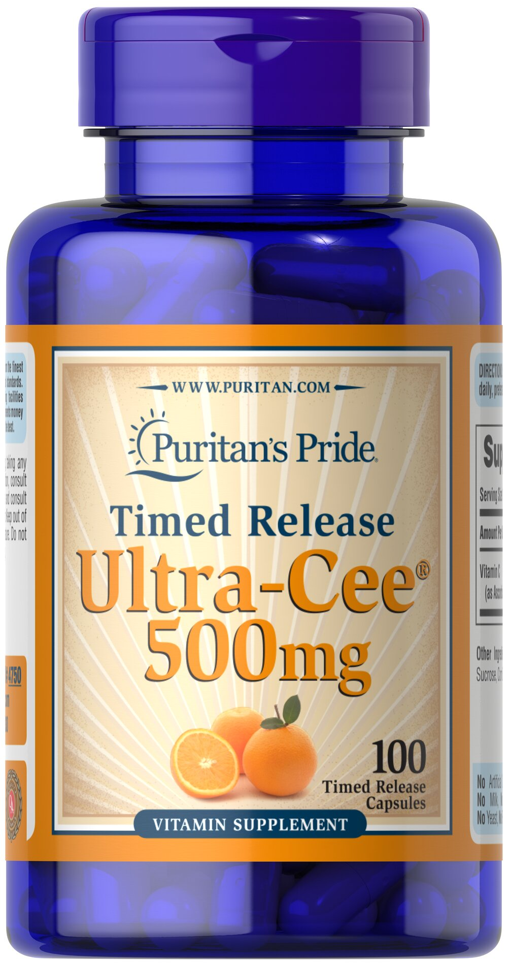 Ultra Cee® 500 mg Time Release  100 Capsules 500 mg $12.29