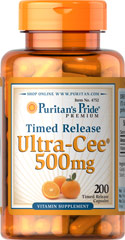 Ultra Cee® 500 mg Time Release <p><b> Time Released</b></p><p>Vitamin C is essential to many functions in the body and is one of the leading vitamins for immune support and helps fight the cell-damaging free radicals that can lead to oxidative stress and premature aging of cells. The Vitamin C in this product has been designed to be released over a prolonged period of time.</p><p>Offers superior antioxidant support.**</p><p>Supports heal