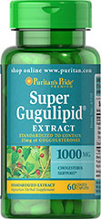 Super Gugulipid® Extract with Citrus Bioflavonoids <p>Gum guggul, one of India's most respected Ayurvedic herbs, is a natural gum resin found in the Indian mukul tree (Commiphora mukul).  GUGULIPID® is standardized to contain (25 mg) of naturally-occurring guggulsterones per tablet.  Guggulsterones help maintain healthy cholesterol levels that are already within the normal range.** Supports Cardiovascular health.**</p><p>Gugulipid® is a registered trademark o