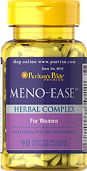 Meno-Ease™ <p>Give your body the extra support it needs during the menopausal years with this soothing blend of six herbs, each of which has been trusted for centuries.  Now they are brought together in this special women's formula that includes Mexican Wild Yam Root, Black Cohosh, Blue Cohosh, Licorice, Dong Quai and St. John's Wort.</p> 90 Coated Caplets  $16.99