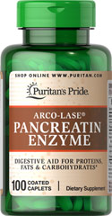 Arco-Lase® Pancreatin Enzyme 1400 mg <p>This natural digestive aid features Arco-Lase® Pancreatin Extract, Amylase, Lipase and Protese, enzyme factors that help deliver optimal dietary supplementation and support good nutrition.**</p><p>As digestive aids, enzymes break down the nutritional components of proteins, fats, and carbohydrates, making these nutrients available for the body's energy needs, cell growth and other vital functions.**</p> 100 Caplets 1400 mg