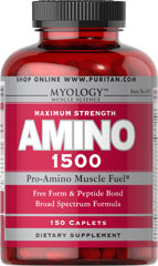 Amino 1500 <p>Specially formulated and scientifically balanced for bodybuilders, power lifters and professional athletes.  This formula contains a balanced blend of free form and peptide bond amino acids.</p> 150 Caplets 1500 mg $19.45