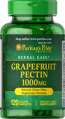 Grapefruit Pectin 1000 mg <p>Helps Support a Feeling of Fullness**</p><p>Grapefruit Pectin is a naturally rich source of pectin, a water soluble dietary fiber found in fruits. Pectin contributes to daily fiber intake and helps promote a feeling of fullness when taken with fiber containing meals, which is beneficial for those following healthy eating plans.**</p> 120 Caplets 1000 mg $17.99