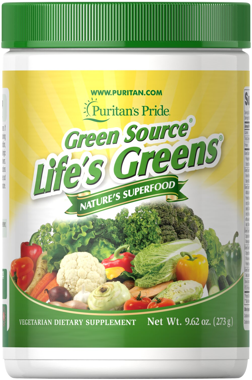 Life's Greens® with Advanced Probiotic Formula <p>With over 35 active ingredients, Life's Greens® powder provides important green factors to give you the optimal edge you need to energize your day.**<p></p>Free Of: Yeast, Preservatives, Artificial Color, Artificial Flavor</p> <p>Oxyphyte® is a registered trademark of RFI Blending LLC.</p> 9.62 oz Powder  $38.99