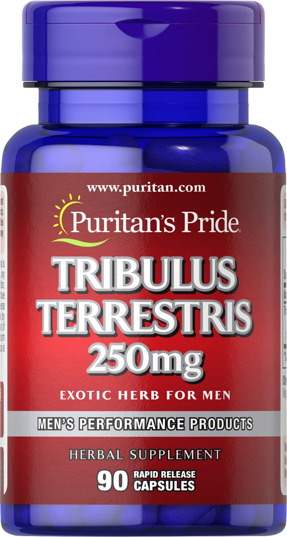 Tribulus Terrestris 250 mg <p>For Men</p><p>Tribulus Terrestris can be found throughout  Asia, where it has long been popular with bodybuilders. Tribulus Terrestris is lab-tested for 40% saponins per serving, one of the highest standardized levels available on the market today! As an herb traditionally used by men, Tribulus Terrestris is the perfect complement to your active lifestyle.</p> 90 Capsules 250 mg $10.16