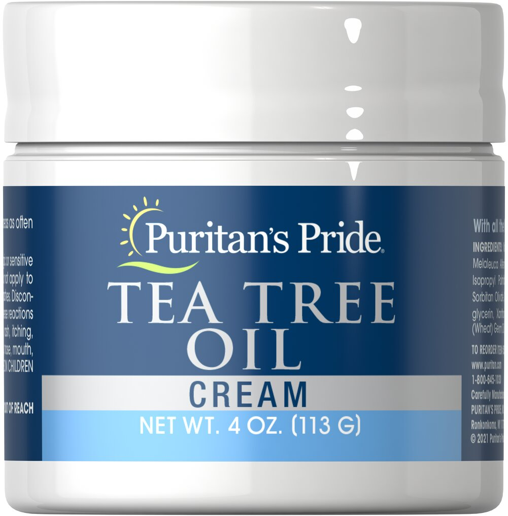 Tea Tree Oil Cream <p>The essence of the Australian forest is captured in our delicately soothing Tea Tree Oil Cream. Tea Tree is a pure oil, culled from the leaves of an evergreen tree native to Australia. Tea Tree Oil Cream indulges your skin while protecting it. Designed to be used anytime, Tea Tree Oil Cream is especially soothing on areas where you seek maximum protection.</p> 4 oz Cream  $11.29