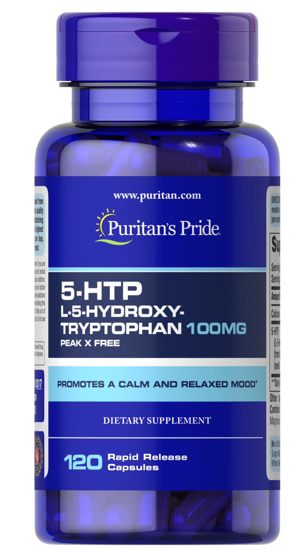 5-HTP 100 mg (Griffonia Simplicifolia) <p>5-HTP is a precursor to serotonin, a neurotransmitter involved in sending messages through the nervous system. This formula also includes B vitamins to promote nervous system health and the herb, Valerian.** Adults can take one capsule twice daily as needed or before bedtime.</p>  120 Capsules 100 mg $35.99