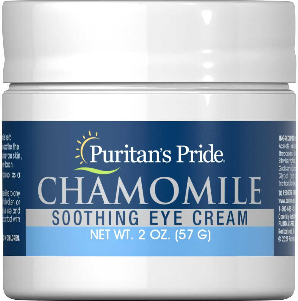 Chamomile Soothing Eye Cream <p>For centuries, the benefits of the Chamomile herb have been known to indulge the skin and help soothe away eye puffiness. Chamomile Eye Cream stimulates your skin, leaving it nourished, fresh and smooth to the touch.  Its natural healing agents also work against skin irritation caused by reactions from cosmetics.</p> 2 oz Cream  $11.29