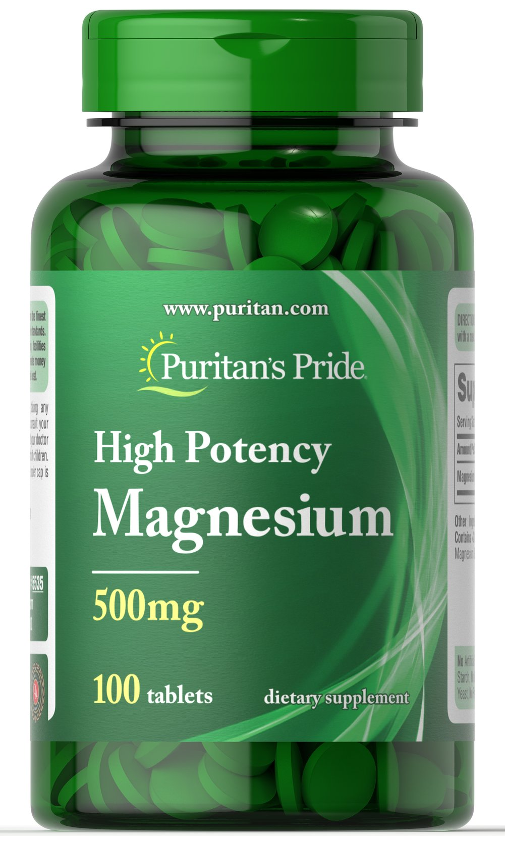 Magnesium 500 mg  100 Tablets 500 mg $10.49