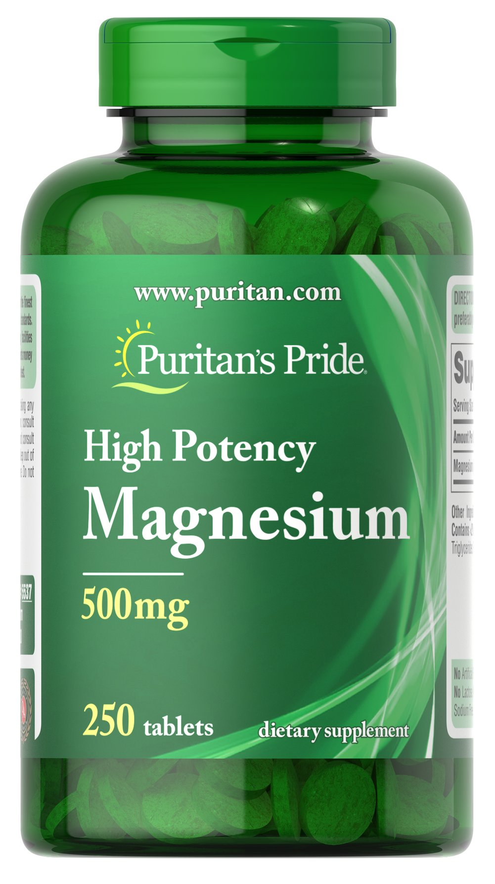 Magnesium 500 mg  250 Tablets 500 mg $29.99