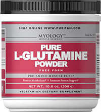 Pure L-Glutamine Powder 4500 mg <p>Popular with Bodybuilders</p><p>Highly Concentrated in Muscle**</p><p>Exercise & Post-Exercise Support**</p><p>L-Glutamine is a popular supplement with bodybuilders and athletes  because it's an important part of any hardcore training regimen. Glutamine is a truly unique amino acid, as it is the most abundant amino acid in blood and skeletal muscle. Intense exercise promotes glutamine formation and release f