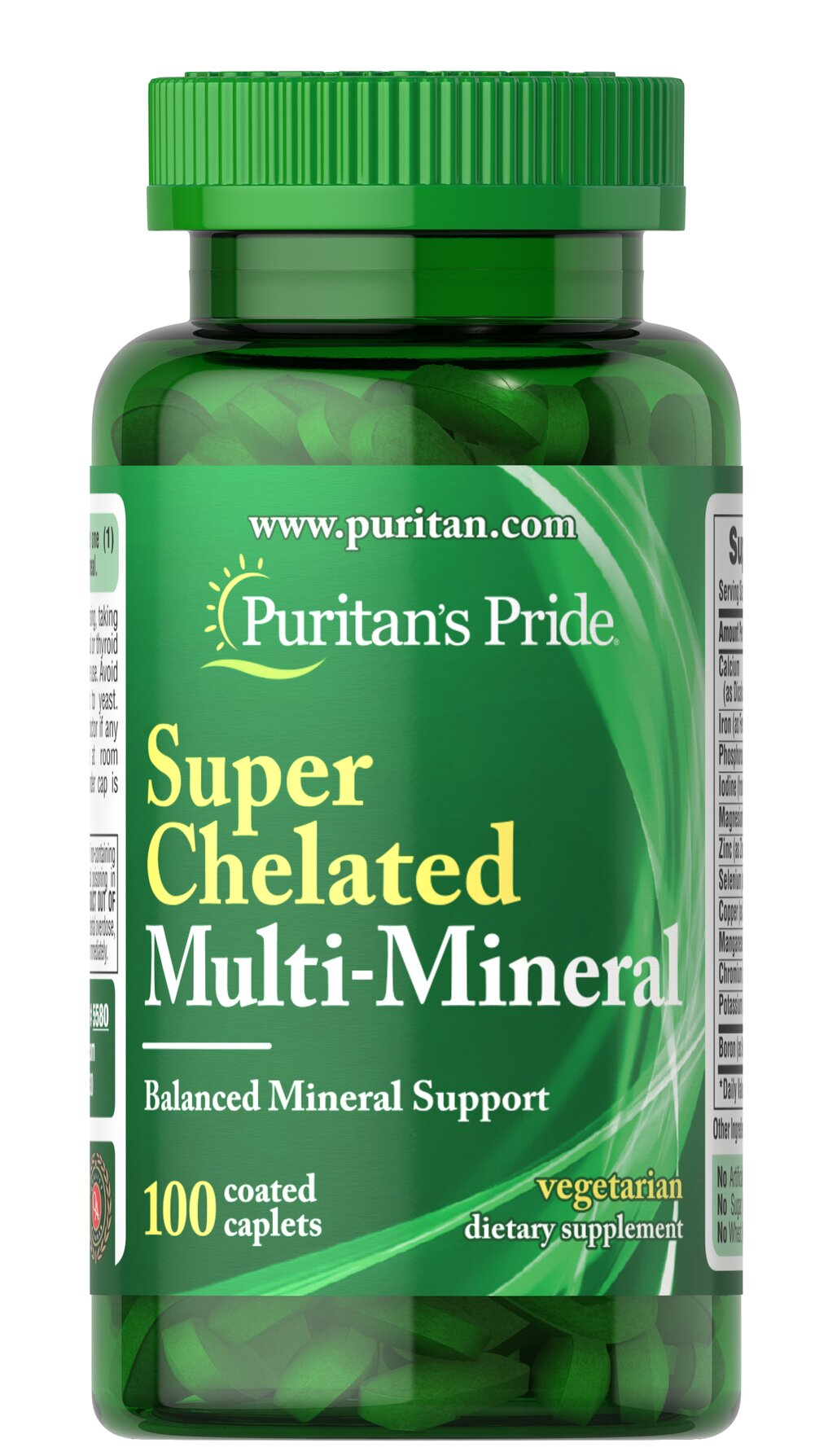 Super Chelated Multi Mineral <p>In Super Chelated Multi-Mineral, we combine over 10 major and trace minerals into a comprehensive mineral blend. Super Chelated Multi-Mineral contains a nutritional treasure chest including Calcium and Magnesium, which play essential roles in maintaining proper bone mineralization, Zinc, which helps support immune function and Boron, which plays a role in bone metabolism.**</p> 100 Coated Caplets  $14.99
