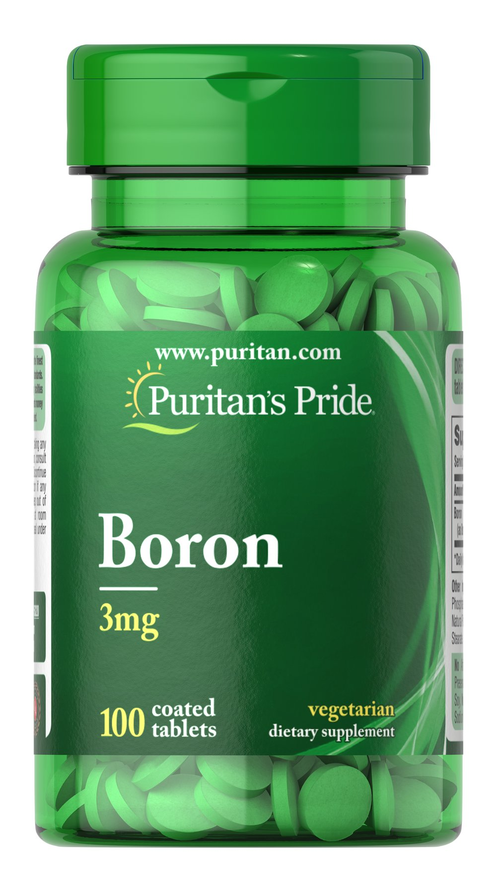 Boron 3 mg <p>Boron is needed in trace amounts for healthy bones and for the metabolism of calcium, phosphorus, and magnesium.**  Available in 100% Natural Chelated (3 mg) tablets.</p> 100 Tablets 3 mg $5.99