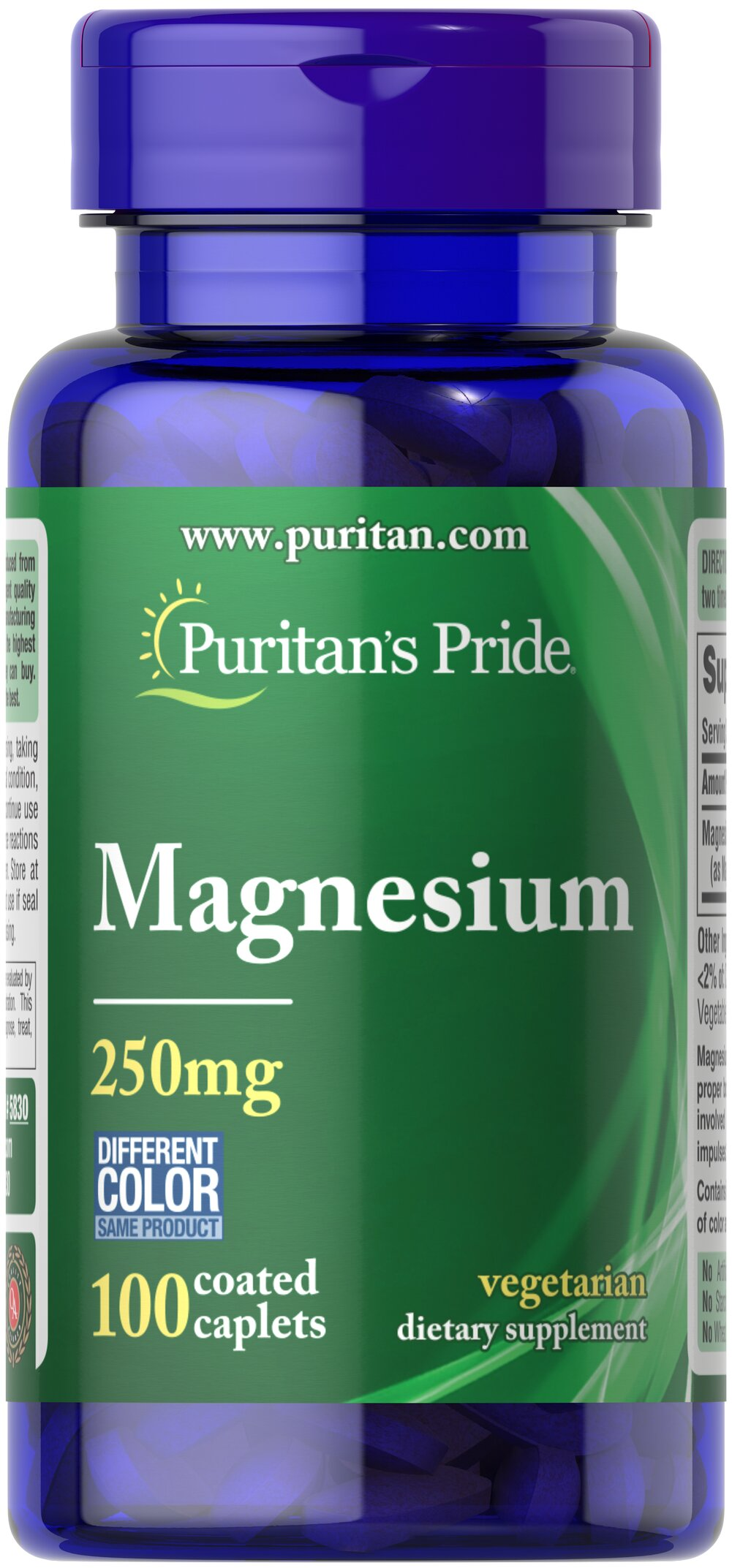Magnesium 250 mg <p>Magnesium offers another option, besides Calcium, for supporting bone health.** Magnesium plays an essential role in maintaining bone mineralization, and is also involved in muscle contractions and nerve impulses.** Adults can take one caplet daily with a meal.</p> 100 Caplets 250 mg $6.99