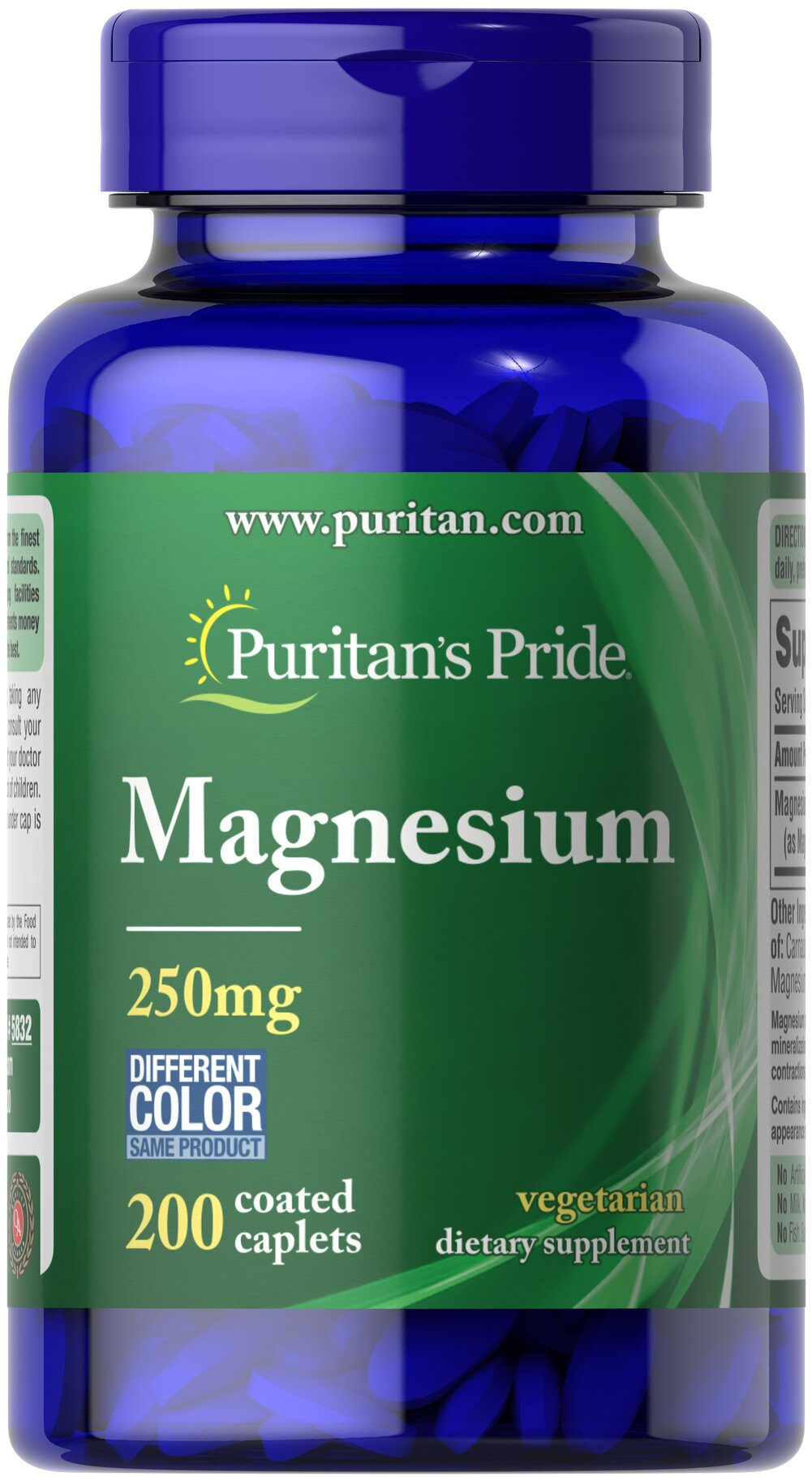 Magnesium 250 mg <p>Magnesium offers another option, besides Calcium, for supporting bone health.** Magnesium plays an essential role in maintaining bone mineralization, and is also involved in muscle contractions and nerve impulses.** Adults can take one caplet daily with a meal.</p> 200 Caplets 250 mg $9.78