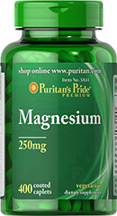 Magnesium 250 mg <p>Magnesium offers another option, besides Calcium, for supporting bone health.** Magnesium plays an essential role in maintaining bone mineralization, and is also involved in muscle contractions and nerve impulses.** Adults can take one caplet daily with a meal.</p> 400 Caplets 250 mg $23.99