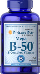 Vitamin B-50® Complex <p>The Vitamin B-50® Complex is made up of several vitamins that work well together to support nervous system health.** B Complex vitamins also promote energy metabolism.** Each nutrient in the Vitamin B Complex performs a unique role in maintaining proper metabolic functioning and is essential for well being.**</p> 250 Capsules 50 mg $32.99