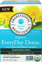 Organic Everyday Detox Dandelion Tea  16 Bags  $9.49