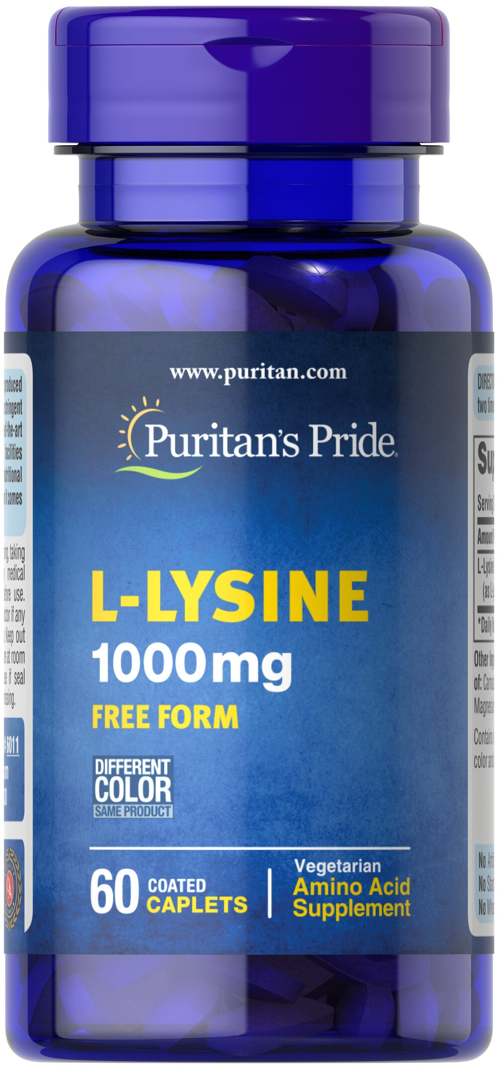 L-Lysine 1000 mg <p>For Balanced Nutrition and Health**</p><p>Lysine is an indispensable amino acid that cannot be made by the body.** Amino acids form the basis for protein, which helps construct and maintain the critical structures in the body.** Lysine is also used for the health and integrity of skin.**</p> 60 Caplets 1000 mg $7.49