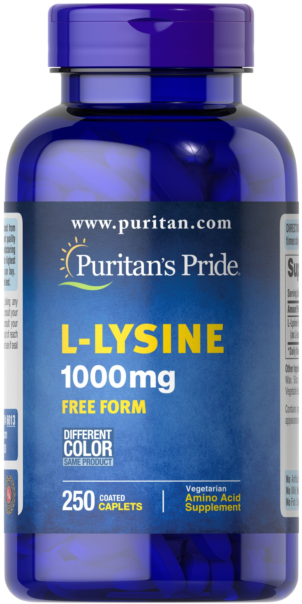 L-Lysine 1000 mg <p>For Balanced Nutrition and Health**</p><p>Lysine is an indispensable amino acid that cannot be made by the body.** Amino acids form the basis for protein, which helps construct and maintain the critical structures in the body.** Lysine is also used for the health and integrity of skin.**</p> 250 Caplets 1000 mg $27.99